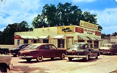 Hester's Drive Inn and Restaurant Leesburg FL (Edge and corner wear) Tags: vintage restaurant pc florida postcard chrome fl roadside