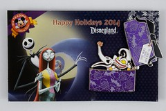 Disneyland Happy Holidays 2014 Jack and Sally Gift from Zero Pin - LE2000 - On Backing Card - Opened (drj1828) Tags: us pin disneyland sally jackskellington zero purchase limitededition dlr nightmarebeforechristmas disneypintrading le2000