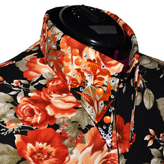 Flora Dolce_ Western Show Couture_Horsemanship_Shirt_Collar (LisaNelleShowClothing) Tags: horses horse fashion oneofakind horseshow equestrian limitededition westernwear highend horsemanship newdesign showmanship plussized newcollection