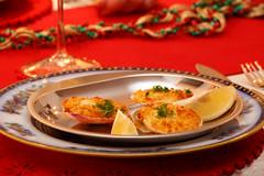 Christmas Eve starter (EXPLORED) (paul indigo) Tags: party food table lemon starter decoration scallops celebration paulindigo christmas2014