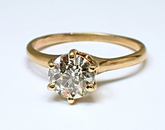 Old European Cut Diamond (theappraiserlady) Tags: reflections gold engagement jewelry engagementring diamond weddingring solitaire oro anillo diamante antiquejewelry oldjewelry culet europeancutdiamond diamondsolitaire theappraiserlady oldeuropeancutdiamond