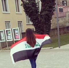 Iraqi girl waving the Iraqi flag (rubajamal212) Tags: iraq arab basil baghdad lebanese babylon iraqi mesopotamia kuwaiti kurdistan syrian basra irak kurdish assyrian iraqikid iraqikids iraqiflag arabiangirls assyrianflag iraqgirl kurdishgirl kurdishflag iraqigirlwavingtheiraqiflag iraqiguy proudiraqi iraqigirlholdingiraqiflag iraqigirlwiththeiraqiflag