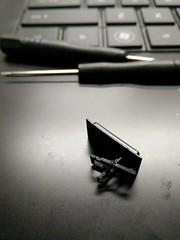 Fixing a Keyboard (stephenlotus) Tags: abstract black art silver computer keys x absence