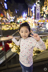 Xmas 2014 (Alphone Tea) Tags: street family red portrait white cute love colors childhood closeup kids angel night season print children fun amazing model lowlight singapore colorful asia pretty display bokeh modeling great models chinese longhair adorable wideangle sharp 24mm lovely merrychristmas greeting orchardroad 6d 2014 2414 ef24mmf14liiusm
