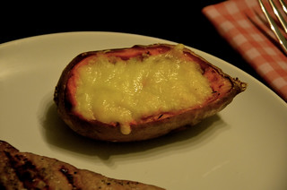 MEATing: Steak No. 1 - Entrecôte with a filled Sweet Potatoe