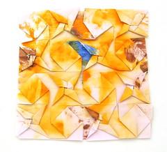 Fujimoto Tesselation Plain weave front (Pliages et vagabondages) Tags: origami tessellation décoration fujimoto