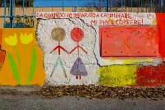 Nietzsche...on children street art (@ntomarto) Tags: streetart children running run aphorism nietzsche aforisma canon70d antomarto ntomarto