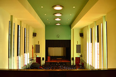 The Auditorium (phunnyfotos) Tags: school clock architecture modern hall nikon interior modernism australia melbourne victoria moderne highschool vic artdeco 1934 auditorium albertpark ohm modernist streamline southmelbourne secondaryschool normanseabrook d5100 nikond5100 phunnyfotos ohm2013