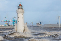New Brighton Lighthouse, perch Rock (davenewby123) Tags: sunset lighthouse seascape liverpool sunrise big waves newbrighton merseyside newbrightonlighthouse perchrock unitekingdom canoneos70d strongwinsbigwaves