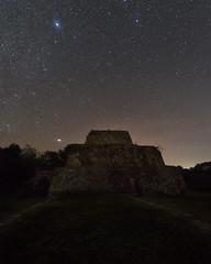 Night Mayan Ruins IV (Sandra Herber) Tags: night stars mexico ruins yucatan mayan astrophotography puuc oxkintok