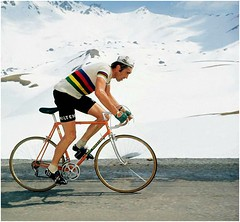 1975 DAUPHINE LIBERE A Classic Merckx Picture... (Sallanches 1964) Tags: eddymerckx mountainstage roadcycling rainbowjersey worldchampionroadcycling