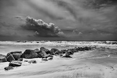 Sound Of My Mind... (sebistaen) Tags: sea sky cloud white black photography flickr rx100 sbastienlemercier sebistaen