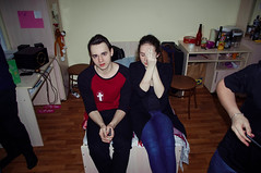Alexander & Alexandra (osipova_polina) Tags: friends party portrait people boys students girl beautiful beauty night fun spring couple pentax dorm guys nightlife saintpetersburg dormitory spb piter pentaxkx  pentaxda