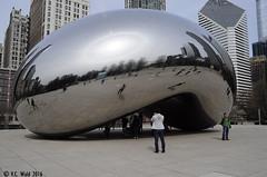 Sun dog or sun halo (V. C. Wald) Tags: chicago parhelion millenniumpark cloudgate anishkapoor publicsculpture