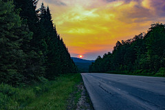 Where we have been (Amy ::) Tags: sunset adirondacks fireinthesky roadway lookingback travel