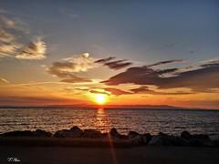 Good morning my friends !!! (panoskaralis) Tags: sunset sea sun clouds seaside hellas greece lesbos mytilene aegeansea lesvosisland