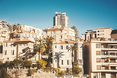 Southern French Coast (LexSwamp) Tags: ocean houses sea summer italy mer france hot tree architecture buildings seaside warm south rich montecarlo monaco palm palmtree carlo monte provence midi luxury wealth