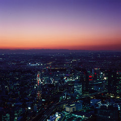 21770005 (redefined0307) Tags: city longexposure film japan night analog mediumformat cityscape nightscape yokohama fujichrome bronicas2 zenzabronica provia400x zenzabronicas2