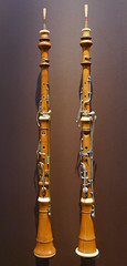 Two wooden clarinets - Musee de l'Armee, Paris (Monceau) Tags: paris wooden military musical instrument clarinet musedelarme