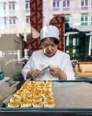Milan 0162 (cbonney) Tags: italy food milan reflection sushi italia milano cook chef maker