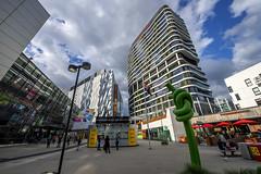 Etihad Stadium Plaza, Melbourne, Australia (globetrekimages) Tags: building architecture australia melbourne docklands etihadstadium