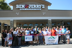 Ben & Jerry's Ribbon Cutting (Destin Chamber) Tags: ben cutting chamber ribbon destin jerrys