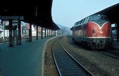 220 074  Goslar  01.05.80 (w. + h. brutzer) Tags: analog train germany deutschland nikon eisenbahn railway zug trains db locomotive hildesheim 220 goslar lokomotive v200 diesellok eisenbahnen dieselloks webru