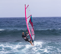 Windsurfer at Costa Teguise (Jackie XLY) Tags: wind windy windsurfers surfers surfing windsurfing sport lanzarote teguise costateguise sansbeachresort
