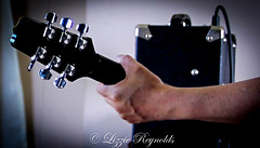 Day 178, 2016, a photo a day. (lizzieisdizzy) Tags: music guitar musician play machinehead tuner strings neck headstock six wooden wood hand arm grip fingers thumb chord playing