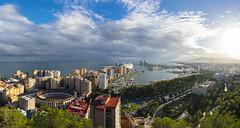 Malaga Panorama (BoXed_FisH) Tags: travel blue sea panorama clouds port amazing andaluca spain europe cloudy sony wideangle es malaga mlaga sonyalpha sonyzeiss zeiss1635 sonya7 sel1635z sony1635mmvariotessartfef4zaoss sonyzeiss1635f4oss
