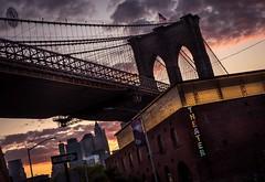 Under The Bridge (itsonlykotsy) Tags: nyc newyorkcity bridge sunset usa brooklyn unitedstates dramatic brooklynbridge goldenhour