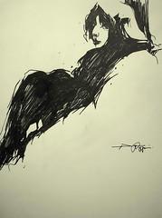 P1015230 (Gasheh) Tags: art painting drawing sketch portrait figure girl people pen gasheh 2015