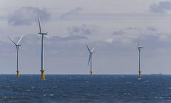 Wind Farm (Preston Ashton) Tags: ocean blue sea sky water sunshine clouds energy waves wind cloudy farm sunny windfarm prestonashton