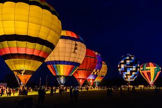 Balloon Glow at the Wayne County Fair