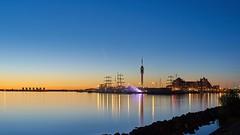 Lelystad Bataviahaven testing light show.