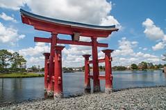 Torii Gate (Angelo ro114) Tags: lake water japan japanese orlando epcot florida tori  torri toriigate