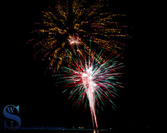 4th July Fireworks as seen from Gulf Beach 1 (Singing With Light) Tags: 2016 4th 4thofjuly alpha6000 fireworks gulfbeach mirrorless singingwithlight sonya6000 july photography singingwithlightphotography sony sunset