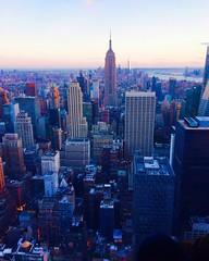NYC (cabezarocha) Tags: sunset skyscrapper city topoftherock empirestate newyork nuevayork nyc
