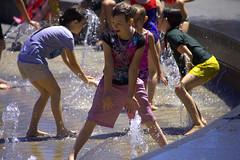 Summer Fun (swong95765) Tags: girls summer boys wet water fountain kids fun happy play enjoy enjoyment elated