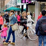 Girl on a Bicycle in The Hague City Center thumbnail