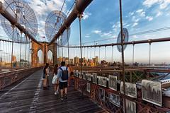 On the Brooklyn bridge (marko.erman) Tags: new york city travel bridge sunset usa architecture brooklyn walking manhattan sony united tourists states uwa downtownmanhattan ultrawideangle unitesstates