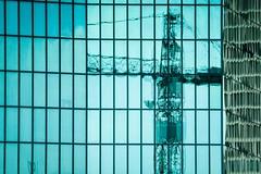 reflection (alexhaeusler) Tags: blue reflection crane structure zrich