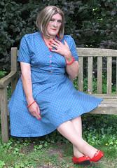 Maxblu40s-001 (fionaxxcd) Tags: crossdresser crossdressing transvestite tranny trannie m2f mtf rednails lipstick petticoat tights pantyhose bust