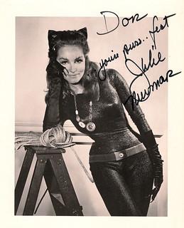 Julie Newmar Catwoman autograph