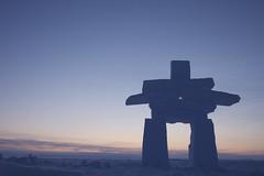 inukshuk P1010183 (www.AlastairHumphreys.com) Tags: snow canada expedition science arctic polar