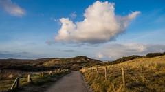 I can see the sea! (Wouter de Bruijn) Tags: grass clouds sunrise coast sand path dunes bluesky zeeland fujifilm walcheren oostkapelle xt1 fujinonxf14mmf28r mantelingen