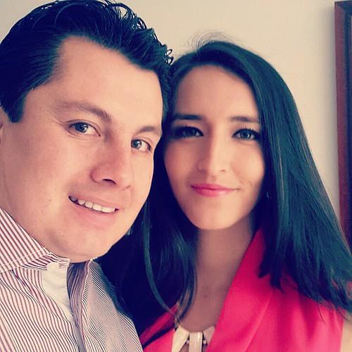 Con #elamordemivida mi #esposabella @anabelen.santamaria.73 listos para la fiests