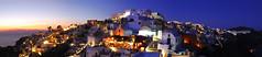 Sunset at Oia - Santorini Greece (Giuseppe Finocchiaro) Tags: travel sunset sea panorama night nikon mediterranean mediterraneo tramonto mare village aegean santorini greece grecia viaggi stitched notte oia cyclades cicladi villaggio egeo