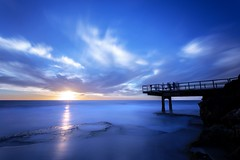 Feeling Blue (Photos By Dlee) Tags: ocean longexposure blue sunset bw seascape beach canon photo spring jetty australia perth northbeach canonef1740mmf4lusm westernaustralia 6d ndfilter canon1740mmf4l 10stop canon6d photosbydlee photosbydlee13