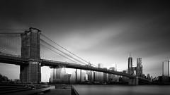 Visual Acoustics XII - Silence and Light - Brooklyn Bridge, New York City (Joel Tjintjelaar) Tags: nyc newyorkcity brooklynbridge bwphotography nycskyline tiltshiftlens longexposurephotography blackandwhitefineart bwfineart joeltjintjelaar